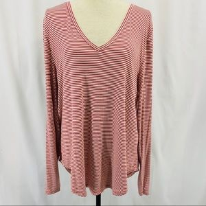 Old Navy Striped V Neck Long Sleeve Luxe